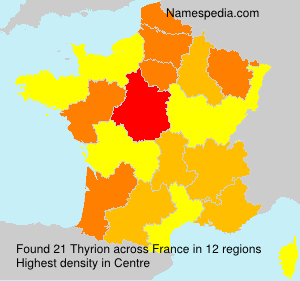 Surname Thyrion in France