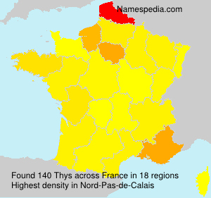 Surname Thys in France