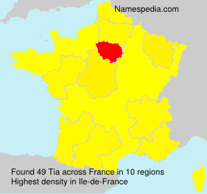 Surname Tia in France