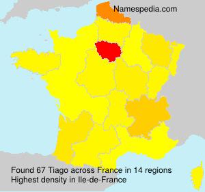 Familiennamen Tiago - France
