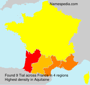 Surname Tial in France