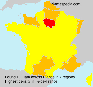 Surname Tiam in France