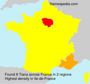 Surname Tiana in France