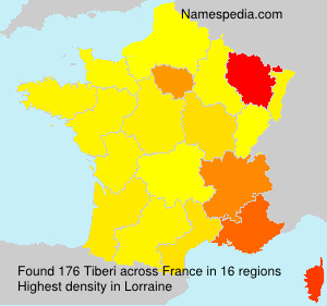 Surname Tiberi in France