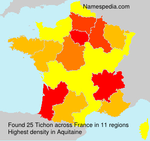 Surname Tichon in France