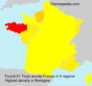 Surname Ticos in France