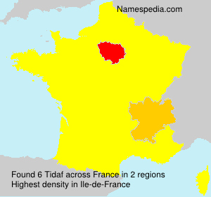 Surname Tidaf in France