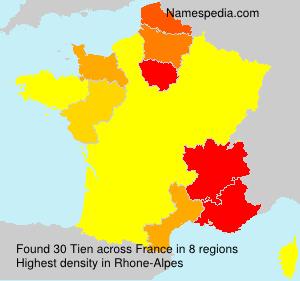 Familiennamen Tien - France