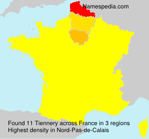 Surname Tiennery in France