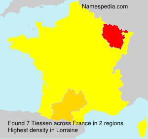 Familiennamen Tiessen - France