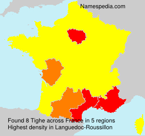 Surname Tighe in France