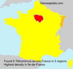 Surname Tikhomirova in France