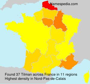 Surname Tilman in France