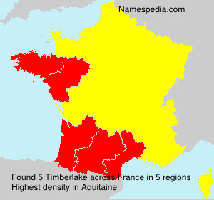Surname Timberlake in France