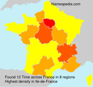Surname Time in France