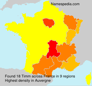 Surname Timm in France