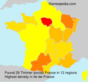 Surname Timmer in France