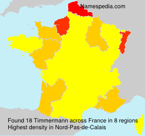 Surname Timmermann in France