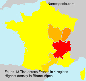 Surname Tiso in France