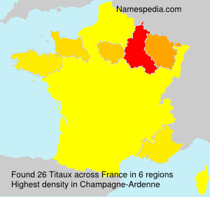 Surname Titaux in France
