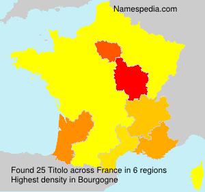 Familiennamen Titolo - France