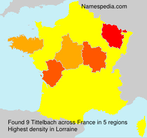 Surname Tittelbach in France