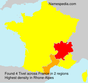 Surname Tivel in France