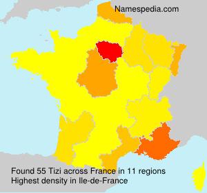 Surname Tizi in France