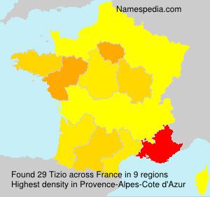 Surname Tizio in France