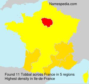 Surname Tobbal in France