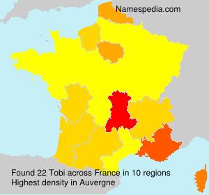 Familiennamen Tobi - France