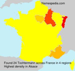 Surname Tochtermann in France