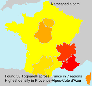 Familiennamen Tognarelli - France