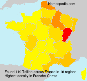 Surname Toillon in France