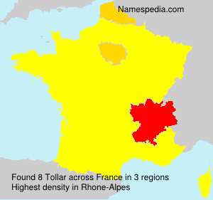 Surname Tollar in France