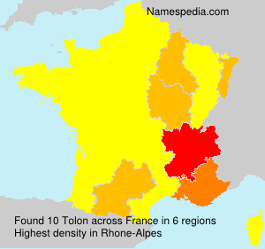 Surname Tolon in France