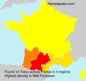 Surname Tolou in France