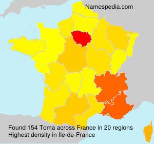 Surname Toma in France