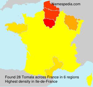 Surname Tomala in France