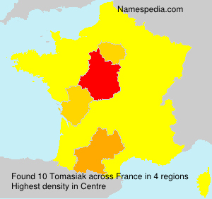 Surname Tomasiak in France