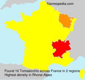 Familiennamen Tomasicchio - France