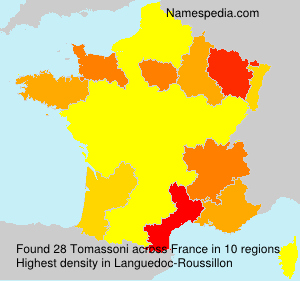 Surname Tomassoni in France
