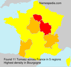 Surname Tomasz in France