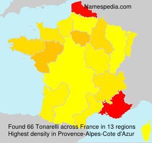Surname Tonarelli in France