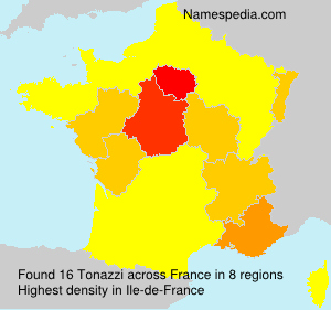 Surname Tonazzi in France