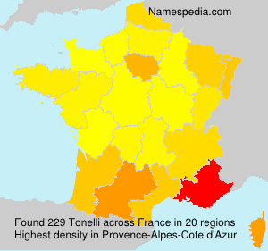 Surname Tonelli in France