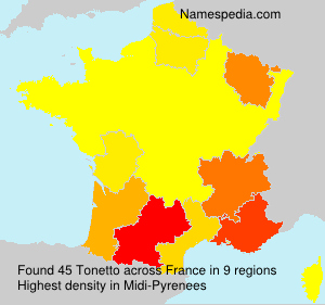Surname Tonetto in France