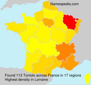 Familiennamen Toniolo - France