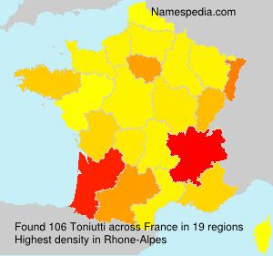Familiennamen Toniutti - France