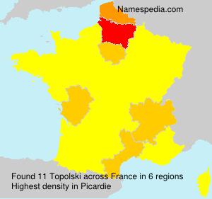 Familiennamen Topolski - France